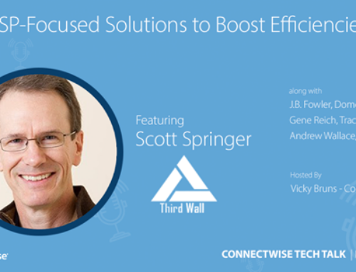 Scott Springer Spotlights Third Wall on ConnectWise Tech Talk Podcast